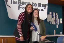 Teen receives life-changing prosthetic leg from friend who was by her side through physical therapy