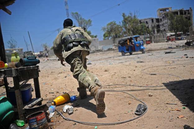 Car bomb outside Somali hotel kills at least 11