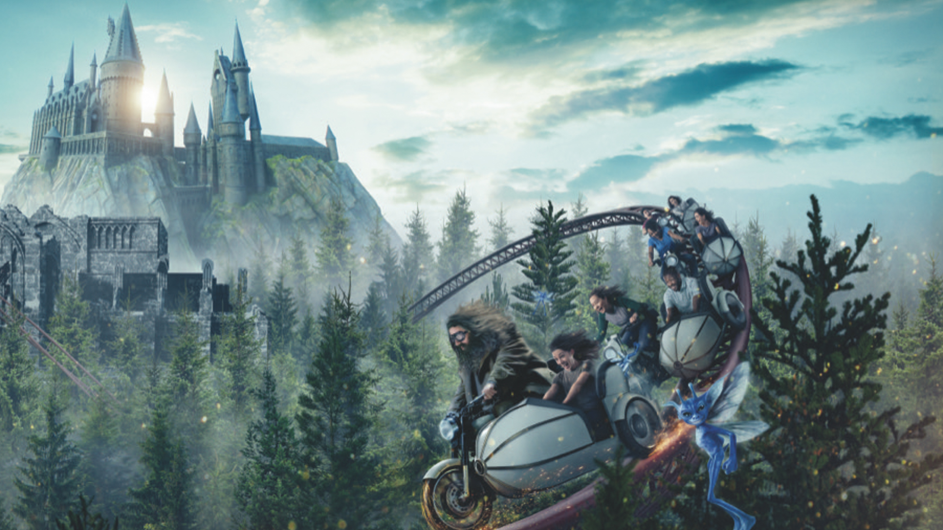 """Slide 16 of 21: Location: Orlando, Florida Admission price: $110+ Ride opening: June 13, 2019 On March 12, 2019, J.K. Rowling's site Pottermore described Hagrid's Magical Creatures Motorbike Adventure as """"a bit more complex than just strapping yourself into a rollercoaster."""" Indeed, Universal's newly released videoreveals that the ride is an immersive, story-telling experience brought to life by art director Alan Gilmore, who worked on the Harry Potter films. Hop aboard an enchanted motorbike just like Hagrid's, and whiz through Hogwarts' infamous forbidden forest, replete with over 1,000 live trees. As you take twists and turns — and even go backward — at speeds of up to 50 miles per hour, you'll discover some of the rarest magical creatures from the Harry Potter movies — as well as a surprise creature Universal is currently keeping under wraps. For Harry Potter fans, this ride is absolutely worth the price of admission. It's like you've flown straight into the wizarding world."""