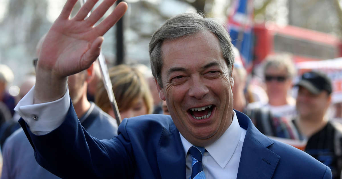 a013c03896b5 Brexit Party led by Nigel Farage on course for shock win in EU elections,  poll finds