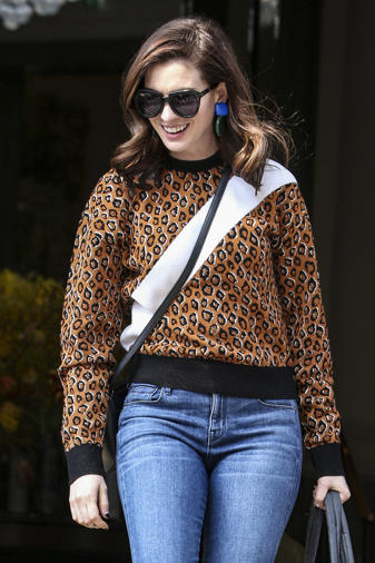 Anne Hathaway leaving her London hotel Anne Hathaway out and about, London,  UK -