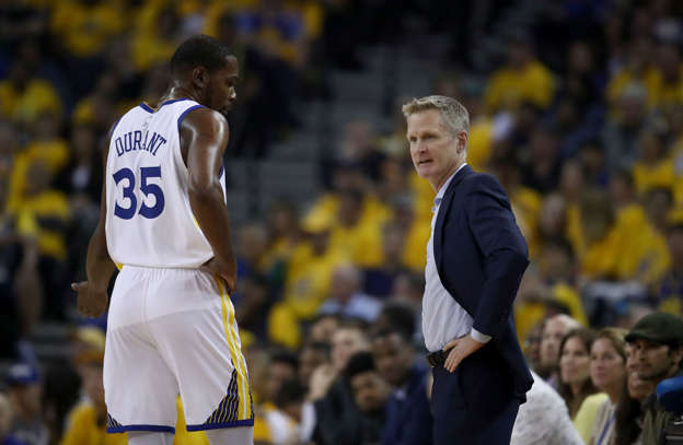 913795b32e1 Shooting pains  Warriors  Kevin Durant and Steve Kerr differ on the path  forward