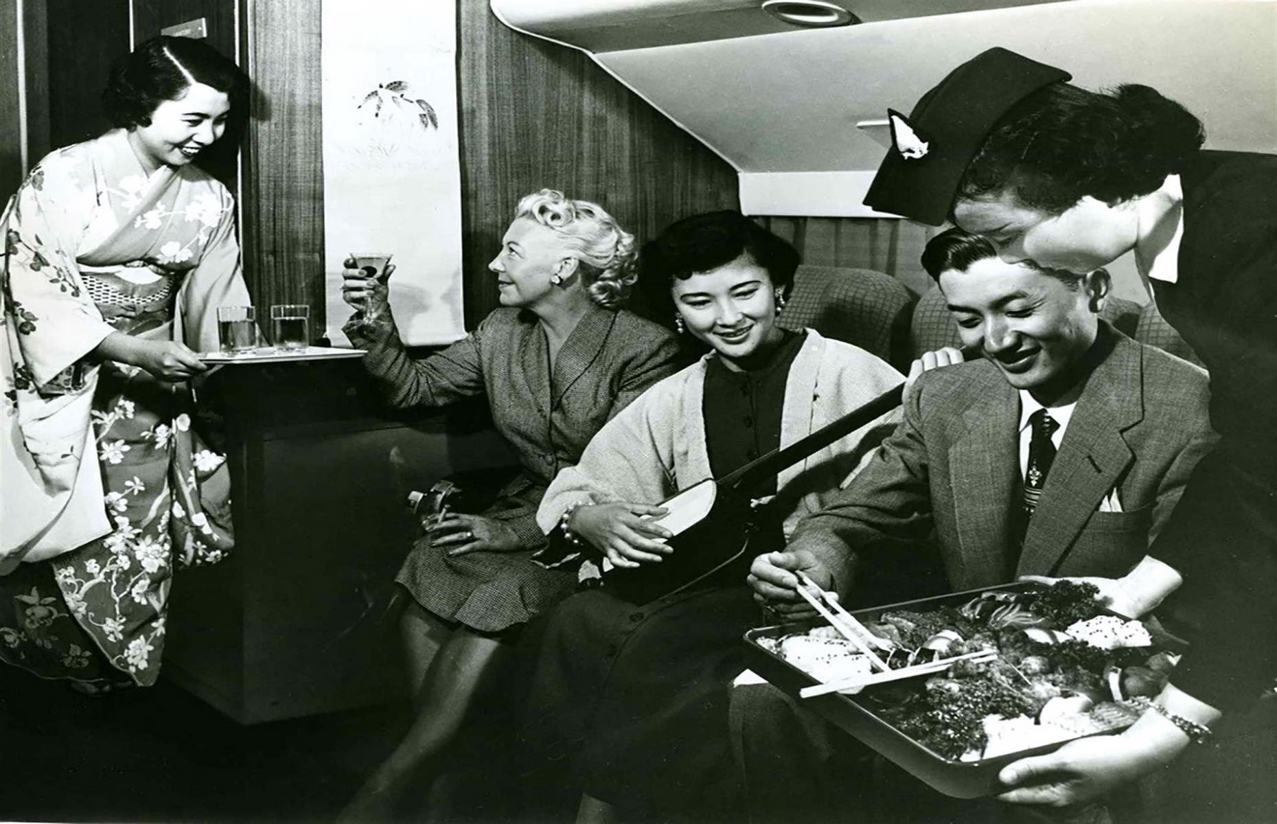 Slide 61 of 63: People refer to the 1950s as the golden age of flying, but it also meant flights were only accessible to the privileged few. The cost of flying with Qantas on the Perth to London route back in 1955 would be $23,564 (£18,144) in today's money. Now, you can make the same journey for around $900 (£700). In 1958, BOAC (the British Overseas Airways Corporation, a precursor to BA) launched the first one-way fare from London to New York which was $225 (£173) at the time, but $4,990 (£3,842) in today's money.