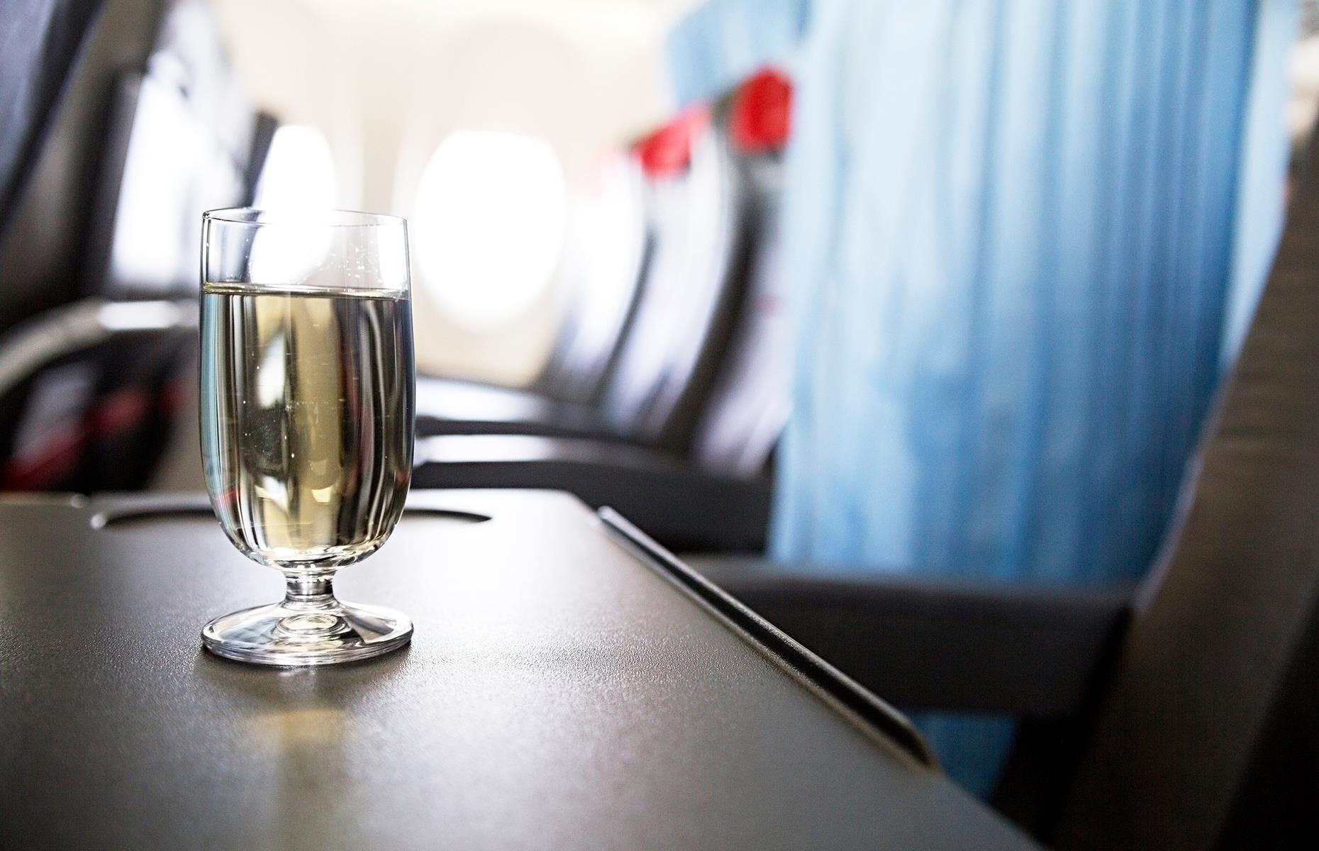 "Slide 37 of 63: ""During a flight your body gets incredibly dehydrated,"" says Dan Air. ""On average during a 10-hour flight it will lose at least two liters of water. Add to that the dehydrating effect of alcohol and if you keep drinking during a flight, you can expect one mother of a hangover the next day!"""