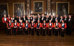 The Duke of Edinburgh attends the Army Benevolant Fund 60th Anniversary Dinner at The Royal Hospital, Chelsea, London. * He is pictured with front row seated left-right Field Marshal Lord Inge, FM Sir John Chapple, FM Sir Nigel Bagnall, FM Lord Bramall, FM Lord Carver, HRH The Duke of Edinburgh, FM Sir Roland Gibbs, FM Sir John Stanier, FM Lord Vincent. HRH The Duke of Kent, Back row. Viscount Marchwood, Karan Bilimoria, Sir John Mills, William Ware, Paul Charlesworth, Richard Moon, Ron Gerard, Michael Portillo, Ralph Djanogly, Lord Mason, Michael Heseltine, Lord Carrington, Eric Hotung, John Major, Lord Gilmour, Sir John Knott, Sir David Scholey, Tom King, Michael Ethelston, John Asprey, Dr. Tony Heathcote, Scott Graham.