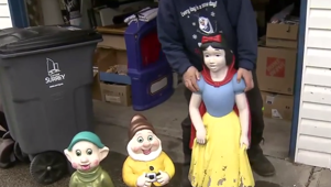 For the second time in under a year, someone has stolen several Disney figurines from a couple in Cloverdale.