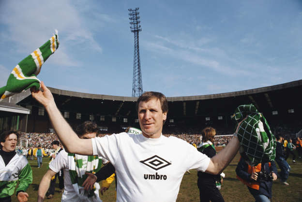 090b5f8b358 Celtic manager Billy McNeill celebrates after Celtic had beaten Dundee 3-0  to win the