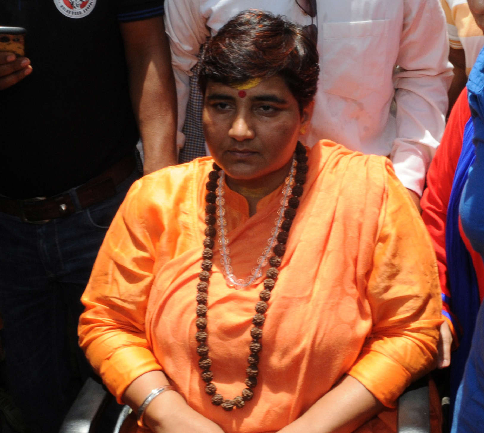 Slide 30 of 31: CAPTION: BHOPAL, INDIA - MAY 18: Hindu activist Sadhvi Pragya Singh Thakur leaving for Simhastha in Ujjain under heavy police protection on May 18, 2016 in Bhopal, India. Pragya Singh Thakur, who got a clean chit from the NIA in the 2008 Malegaon blasts case, went on an indefinite hunger strike on Monday to press for her demand that she be allowed to take a dip in Kshipra in Ujjain during the ongoing Simhastha. (Photo by Praveen Bajpai/Hindustan Times via Getty Images)