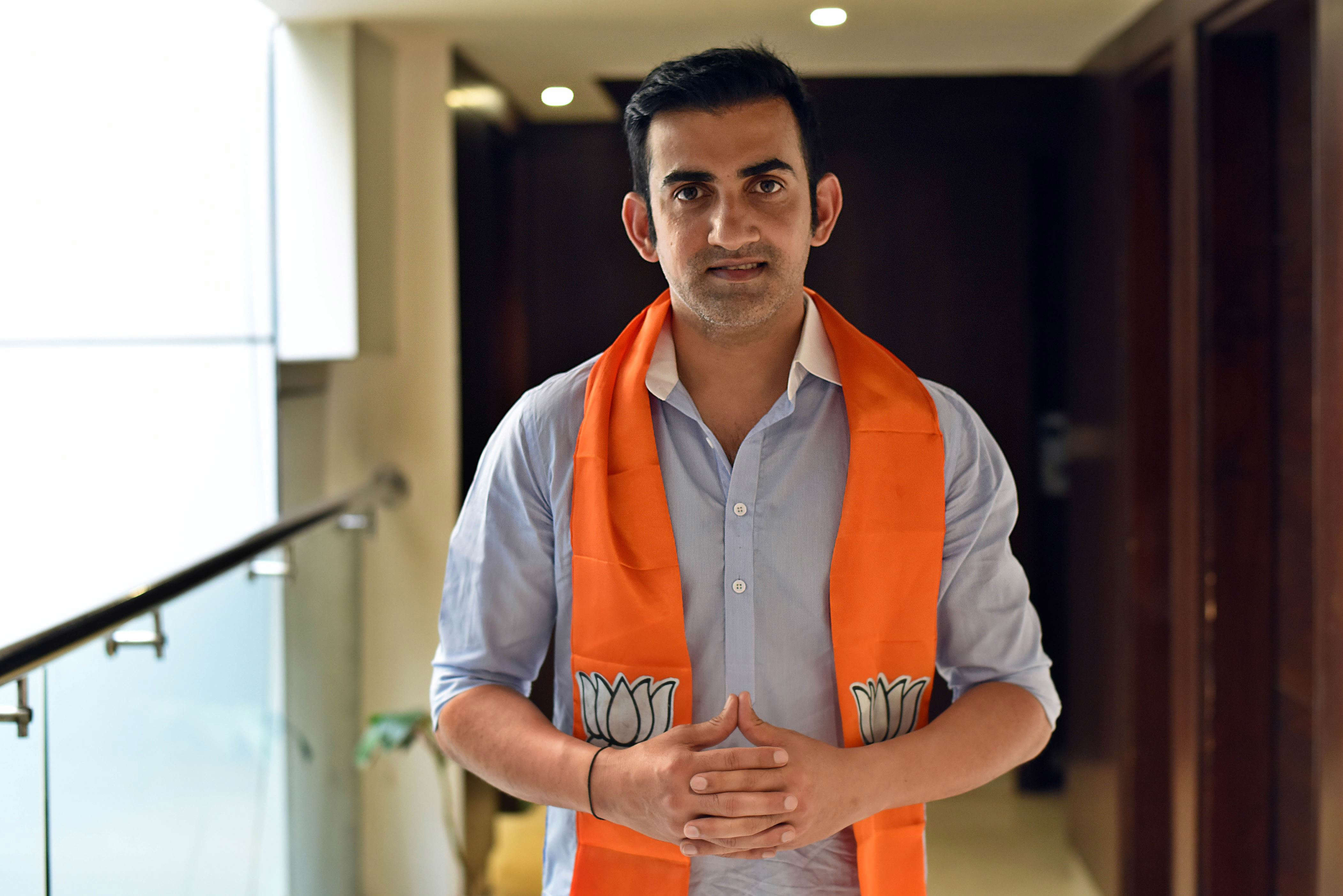 Slide 2 of 31: NEW DELHI, INDIA - APRIL 24: (EDITORS NOTE: This is an exclusive image of Hindustan Times) Gautam Gambhir, Bharatiya Janata Party (BJP) candidate from East Delhi, poses during an exclusive interview with Hindustan Times, on April 24, 2019 in New Delhi, India. (Photo by Amal KS/Hindustan Times via Getty Images)