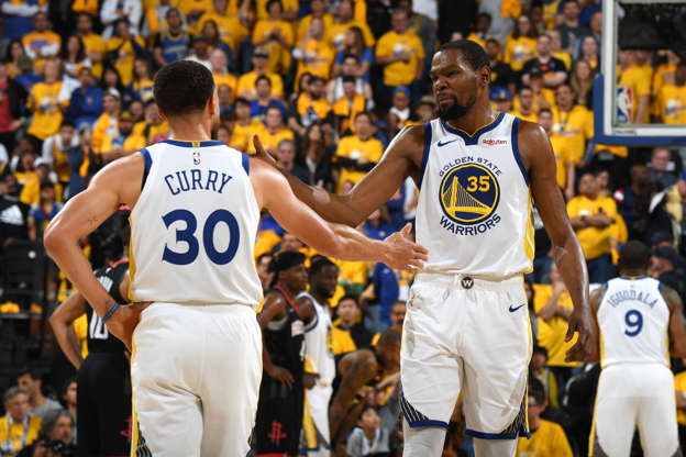 72b6e243e5ac Durant s 35 points carry Warriors past Rockets in Game 1