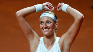 Tennis - WTA Premier - Stuttgart Tennis Grand Prix - Porsche-Arena, Stuttgart, Germany - April 28, 2019  Czech Republic's Petra Kvitova celenrates after winning the final match against Estonia's Anett Kontaveit   REUTERS/Kai Pfaffenbach     TPX IMAGES OF THE DAY
