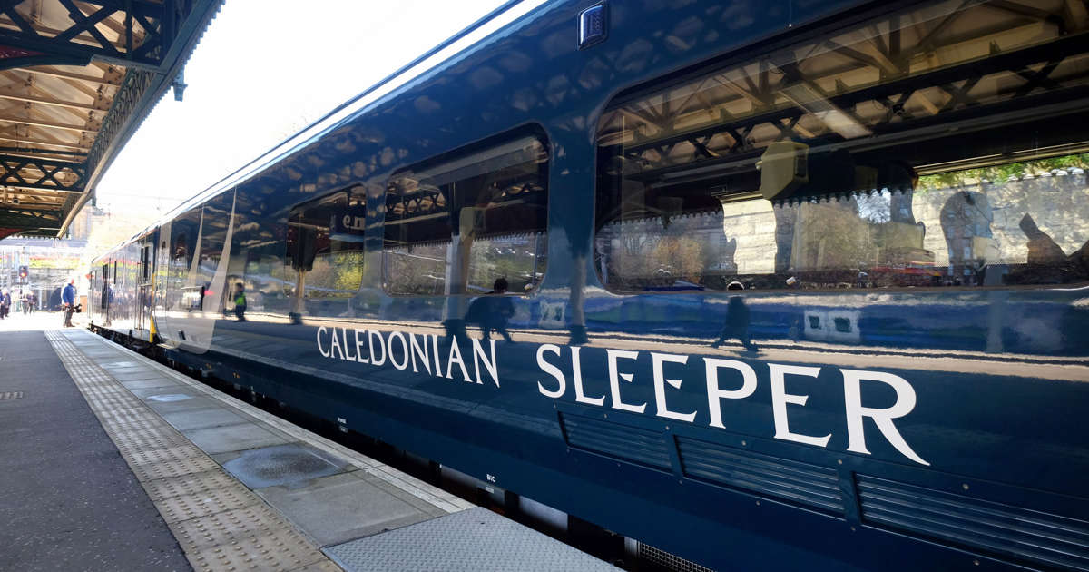 First train on new-look Caledonian Sleeper service after