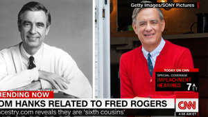 Tom Hanks finds out he is related to Mister Rogers