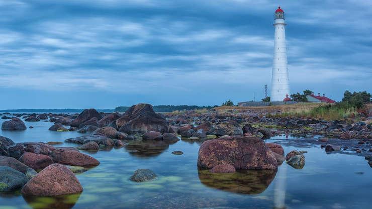 Diapositivo 1 de 19: Estonia, Hiiu County, Tahkuna, Tahkuna lighthouse is situated on the north end of hiiumaa