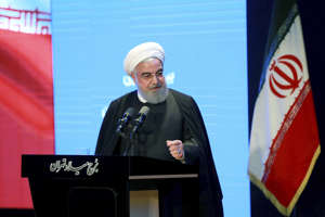 In this photo released by the official website of the Office of the Iranian Presidency, President Hassan Rouhani speaks in a meeting in Tehran, Iran, Wednesday, Dec. 4, 2019. Rouhani says Tehran hasn't closed the window on talks with the U.S. but reiterated his government's standing condition that the Trump administration lift sanctions imposed on Iran before any negotiations can take place.