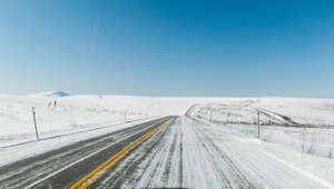 Dalton Highway in Winter, Alaska