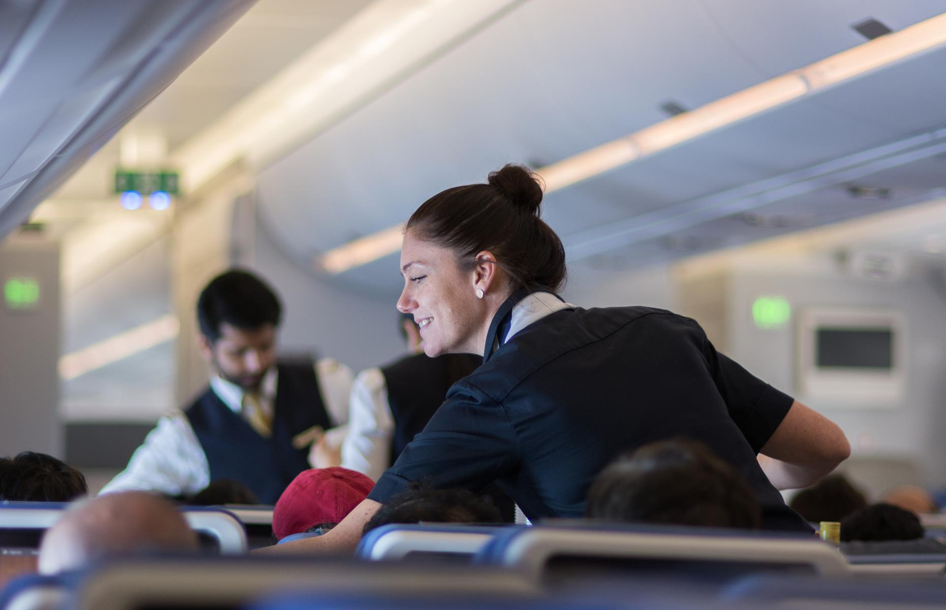 Slide 31 of 35: Despite being regarded as a premium airline, Lufthansa receives its highest ratings for its economy class services on long-haul flights, beating both business class and premium economy in customer feedback. Passengers particularly rate the quality of food onboard and the cleanliness of the cabins.
