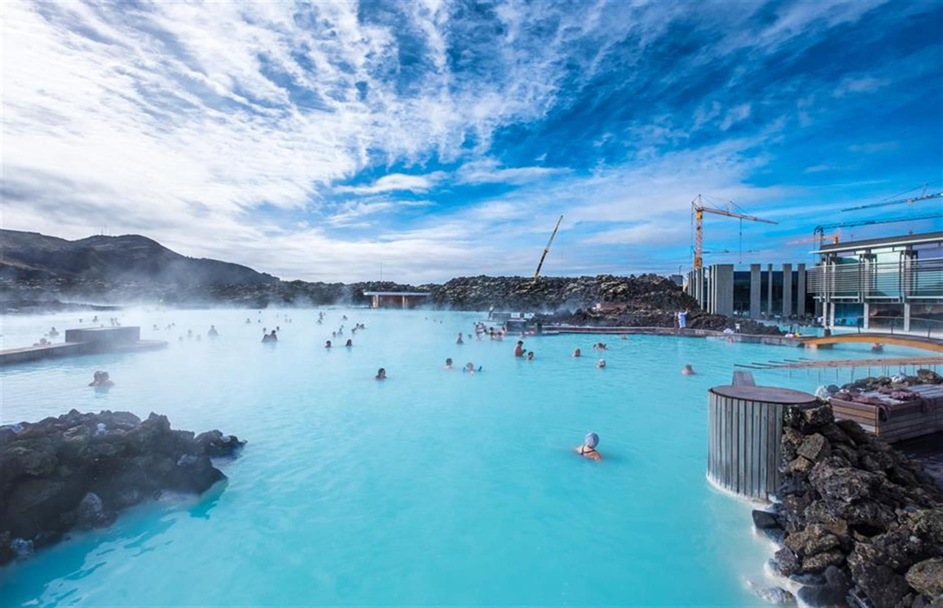 Slide 20 of 41: With its warm, milky-blue waters and dramatic volcanic landscape, there's little doubt Iceland's Blue Lagoon is a spectacular way to while away an afternoon. But it also comes with tourists, and lots of them. Some 1.2 million people arrived here in 2017, keen to wallow in the 98.6–104°F (37–40°C) waters, sweat it out in a sauna or steam room and plaster on a silica-rich face mask.