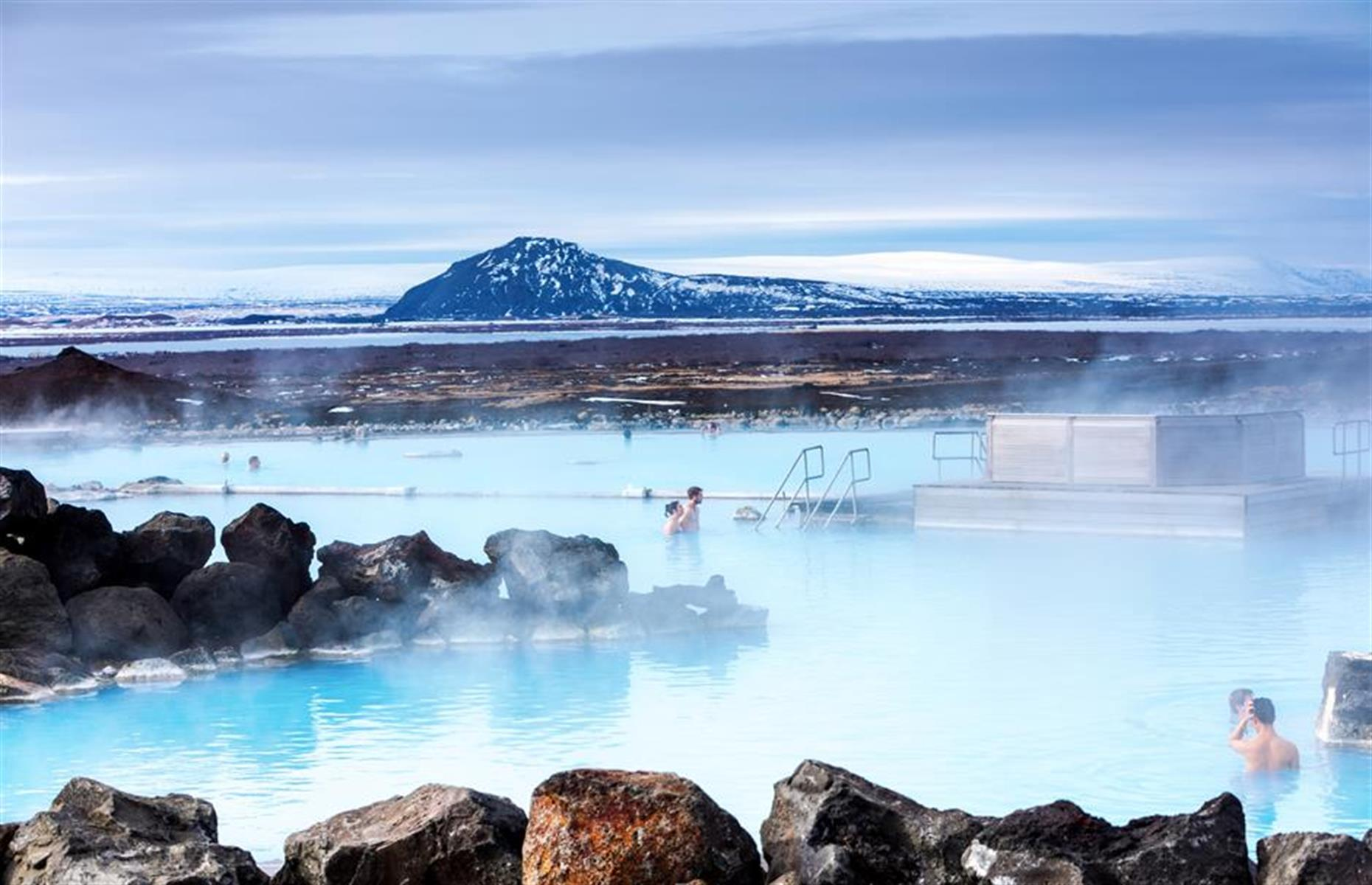 Slide 21 of 41: Instead, why not travel to Mývatn Nature Bath in the north of island. It may not offer all the glitz of the Blue Lagoon but you'll find similar milky-blue waters, with temperatures of 96.8–104°F (36–40°C), at around half the price. As well as the pools themselves, there are two geothermally-heated steam baths, plus changing rooms with organic body products. Once you've had your watery fun, head to the café for goulash and the famous geyser bread which is baked underground. Find more underrated spots in Iceland here.