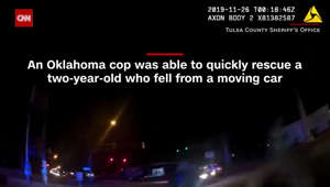 Bodycam shows moment cop sees child fall from moving car