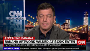 Artist who ate $120,000 banana quips: I was hungry