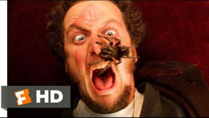 "a man making a face for the camera: Home Alone movie clips: http://j.mp/1BzLZyS BUY THE MOVIE: FandangoNOW - https://www.fandangonow.com/details/movie/home-alone-1990/1MV33b2daafa460cf2eafee40aace77b05a?cmp=Movieclips_YT_Description iTunes - http://apple.co/1Fq7Jsy Google Play - http://bit.ly/1JnpFJQ Amazon - http://amzn.to/1KBi1KA Fox Movies -   Don't miss the HOTTEST NEW TRAILERS: http://bit.ly/1u2y6pr http://fox.co/2is6NTo Watch more Family and Animation videos to get all the best content that's fun for all ages: Best Animated Movie Clips http://bit.ly/2a9DaSm Best Family Movie Clips http://bit.ly/2a18bZK  CLIP DESCRIPTION: Harry (Joe Pesci) and Marv (Daniel Stern) close in on Kevin (Macaulay Culkin), but Kevin gets help from an eight-legged friend.  FILM DESCRIPTION: Home Alone is the highly successful and beloved family comedy about a young boy named Kevin (Macaulay Culkin) who is accidentally left behind when his family takes off for a vacation in France over the holiday season. Once he realizes they've left him ""home alone,"" he learns to fend for himself and, eventually has to protect his house against two bumbling burglars (Joe Pesci, Daniel Stern) who are planning to rob every house in Kevin's suburban Chicago neighborhood. Though the film's slapstick ending may be somewhat violent, Culkin's charming presence helped the film become one of the most successful ever at the time of its release.  CREDITS: TM & © Fox (1990) Courtesy of Twentieth Century Fox Film Corporation Cast: Macaulay Culkin, Joe Pesci, Daniel Stern Director: Chris Columbus Producers: Tarquin Gotch, John Hughes, Scott M. Rosenfelt, Mark Levinson, Mark Radcliffe Screenwriter: John Hughes  WHO ARE WE? The MOVIECLIPS channel is the largest collection of licensed movie clips on the web. Here you will find unforgettable moments, scenes and lines from all your favorite films. Made by movie fans, for movie fans.  SUBSCRIBE TO OUR MOVIE CHANNELS: MOVIECLIPS: http://bit.ly/1u2yaWd ComingSoon: http://bit.ly/1DVpgtR Indie & Film Festivals: http://bit.ly/1wbkfYg Hero Central: http://bit.ly/1AMUZwv Extras: http://bit.ly/1u431fr Classic Trailers: http://bit.ly/1u43jDe Pop-Up Trailers: http://bit.ly/1z7EtZR Movie News: http://bit.ly/1C3Ncd2 Movie Games: http://bit.ly/1ygDV13 Fandango: http://bit.ly/1Bl79ye Fandango FrontRunners: http://bit.ly/1CggQfC  HIT US UP: Facebook: http://on.fb.me/1y8M8ax Twitter: http://bit.ly/1ghOWmt Pinterest: http://bit.ly/14wL9De Tumblr: http://bit.ly/1vUwhH7"