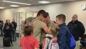 Dad serving in Afghanistan has surprise reunion with his kids