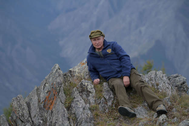 Slide 1 of 55: Russian President Vladimir Putin is seen during his holiday in the Siberian taiga, Russia October 7, 2019.  Sputnik/Alexei Druzhinin/Kremlin via REUTERS ATTENTION EDITORS - THIS IMAGE WAS PROVIDED BY A THIRD PARTY.     TPX IMAGES OF THE DAY