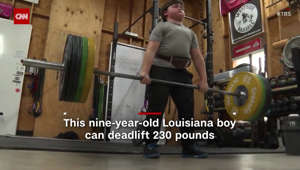 This 9-year-old weightlifter is breaking records
