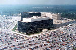 An undated aerial handout photo shows the National Security Agency (NSA) headquarters building in Fort Meade, Maryland. The National Security Agency (NSA) was officially formed by President Harry S. Truman on Nov. 4. 1953.