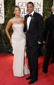 Beyonce is joined by husband Jay-Z, as she arrives at the 66th Annual Golden Globe Awards in Beverly Hills, Calif.