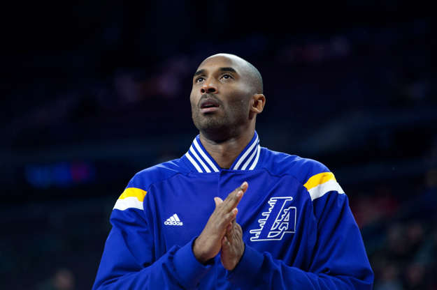 Slide 1 of 33: Dec 2, 2014; Auburn Hills, MI, USA; Los Angeles Lakers guard Kobe Bryant (24) warms up prior to the game against the Detroit Pistons at The Palace of Auburn Hills.