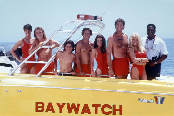 Slide 1 of 29: Baywatch: then and now