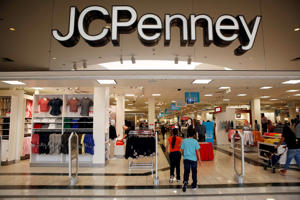 Shoppers enter a J.C. Penney Co. store inside the Glendale Galleria shopping center in Glendale, California.