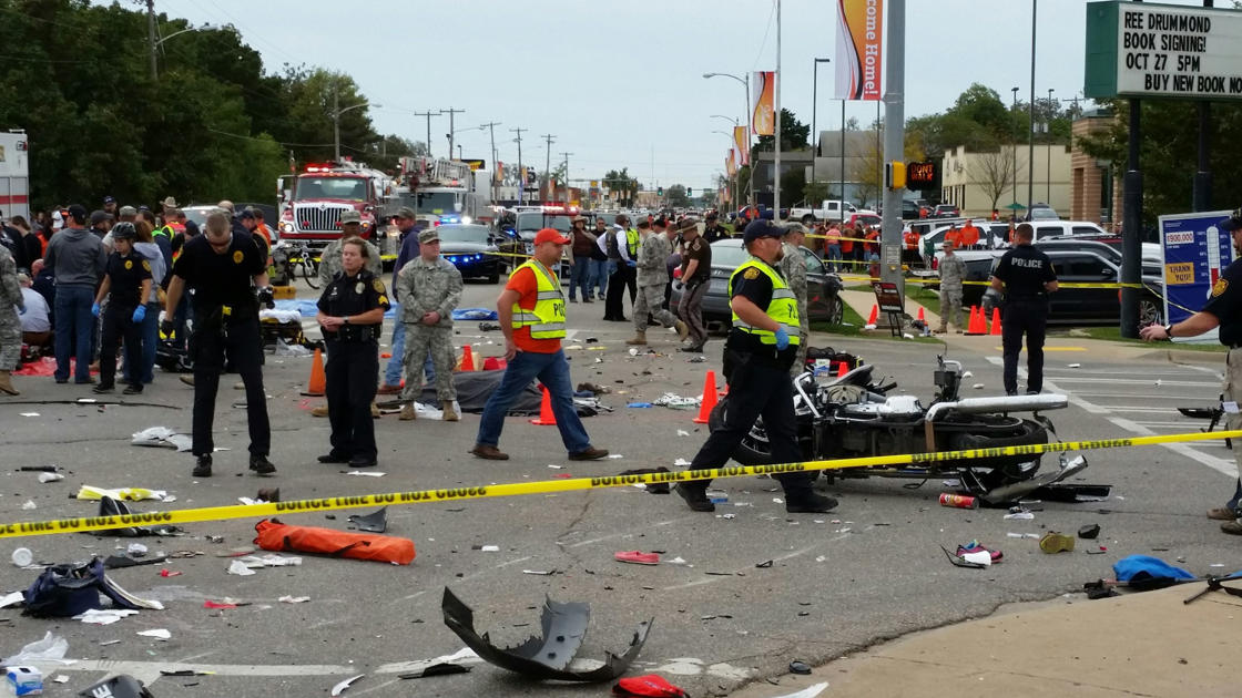 Prosecutor: Driver in parade crash went around barricade