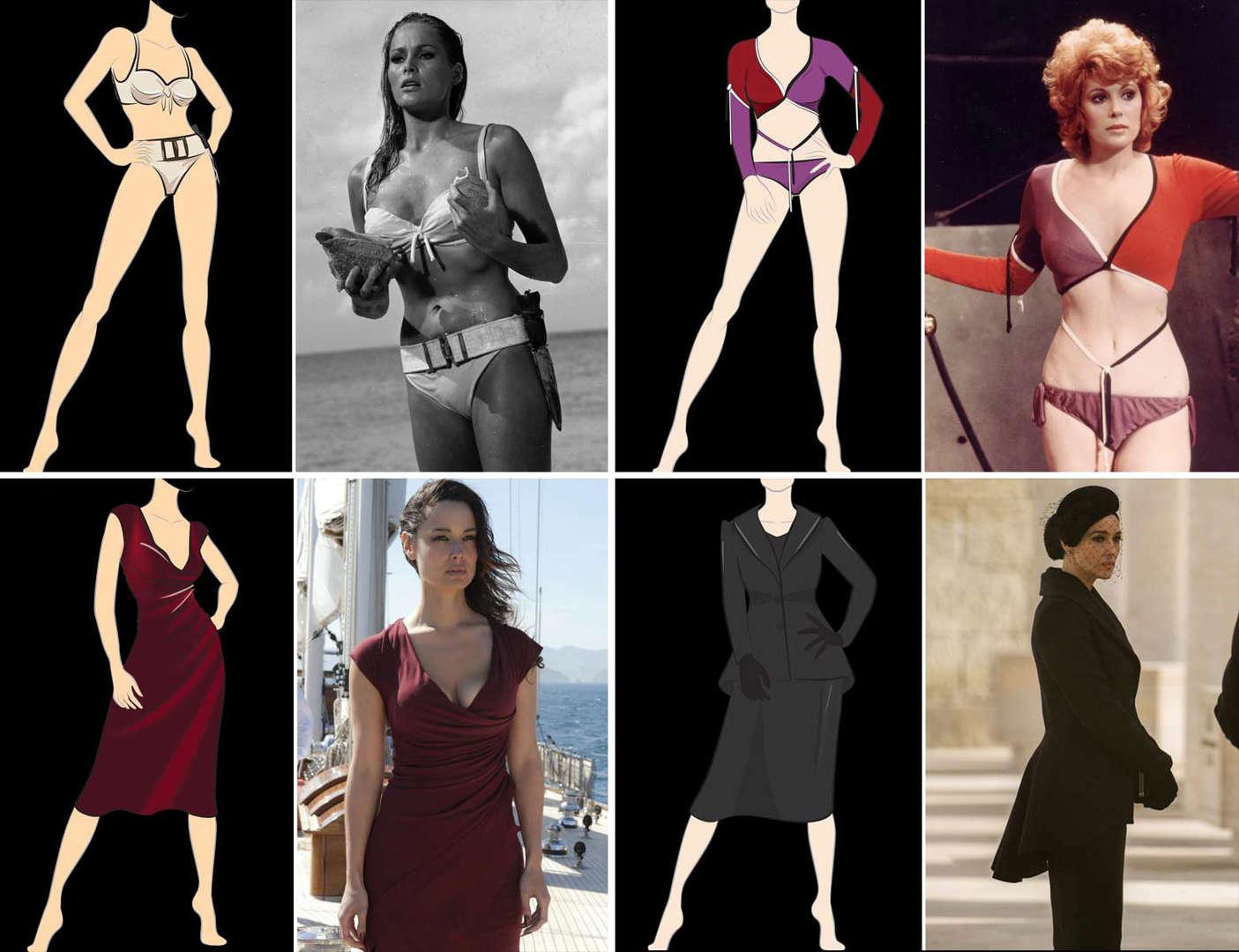 79b560f0e4e Bond-mode: Se de flotteste Bond-babe outfits gennem tiden