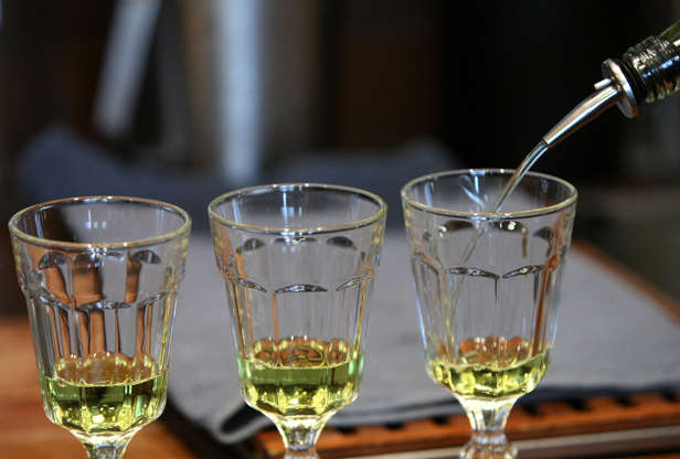 Slide 3 of 18: Absinthe is a mixture of wormwood, sweet fennel and sweet anise. Wormwood contains a toxic chemical named thujone, which has psychoactive properties. The drink has been blamed for social disorders, suicides, tuberculosis and even epilepsy.