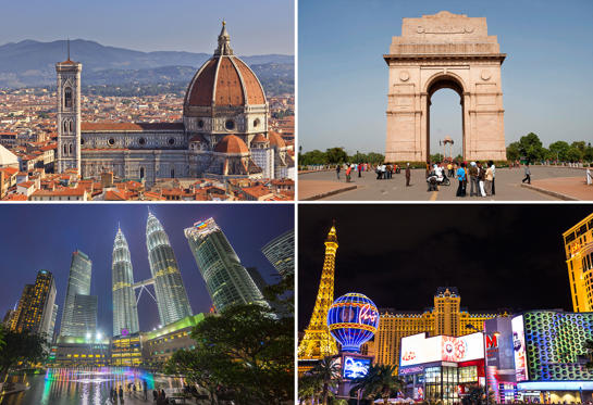 Слайд 1 из 41: From Florence, Italy to Hong Kong - here is a list of 40 most visited countries in the world.