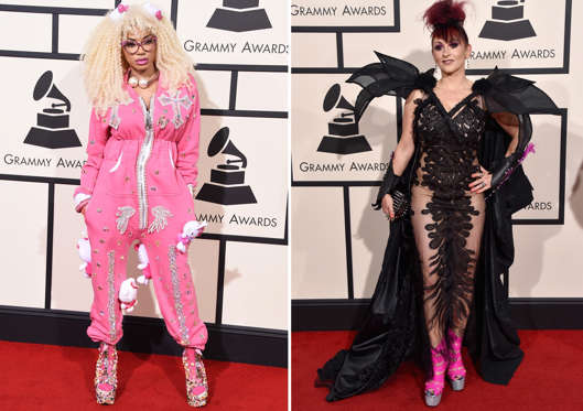 As the 58th Grammy Awards is here, let's a look at some of the craziest outfits that celebs wore while attending the event on Feb.15. 2016 at the Staples Center.