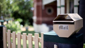 Mailbox in front of a house