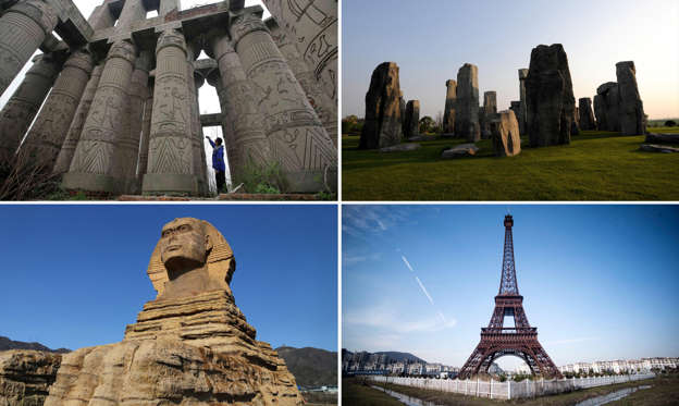 Slide 1 of 26: Famous fakes around the world: Replicas of popular tourist attractions