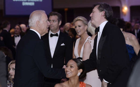 WASHINGTON, DC - APRIL 30: (AFP OUT) Vice-President Joe Biden attends the White House Correspondents' Association annual dinner on April 30, 2016 at the Washington Hilton hotel in Washington, DC. This is President Obama's eighth and final White House Correspondents' Association dinner (Photo by Olivier Douliery-Pool/Getty Images)