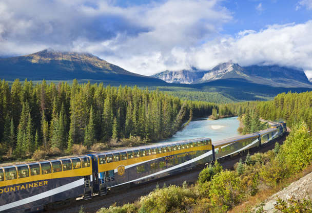 Slide 1 of 22: Rocky Mountaineer