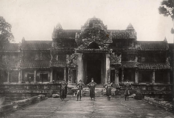 View of the Angkor temple (Cambodia). Ca. 1910. (Photo by adoc-photos/Corbis via Getty Images)