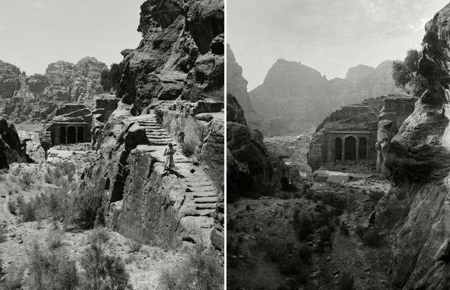 Διαφάνεια 1 από 27: Mount Sinai, Trans-Jordan. Petra, stairway to the great high place and funeral chapel, circa 1898-1946 Mount Sinai, Trans-Jordan. Petra, stairway to the great high place and funeral chapel, circa 1898-1946