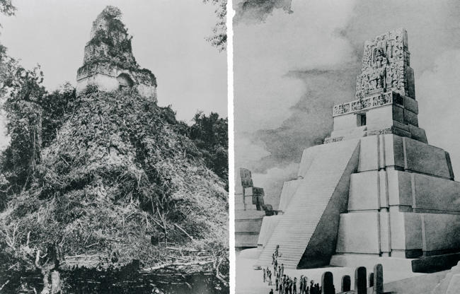 View of Temple 2 known as Las Mascaras or Pyramid of the Moon, Tikal (UNESCO World Heritage List, 1979), Guatemala. Mayan Civilization, 9th-8th Century.  (Photo by DeAgostini/Getty Images)