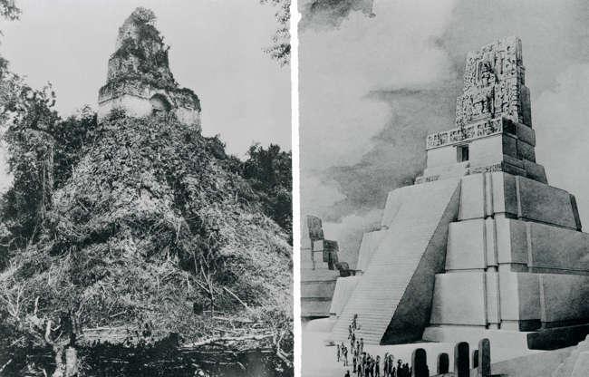 Διαφάνεια 11 από 27: GUATEMALA - OCTOBER 26:  View of Temple 2 known as Las Mascaras or Pyramid of the Moon, Tikal (UNESCO World Heritage List, 1979), Guatemala. Mayan Civilization, 9th-8th Century.  (Photo by DeAgostini/Getty Images)