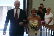 Heart transplant recipient walks donor's daughter down aisle