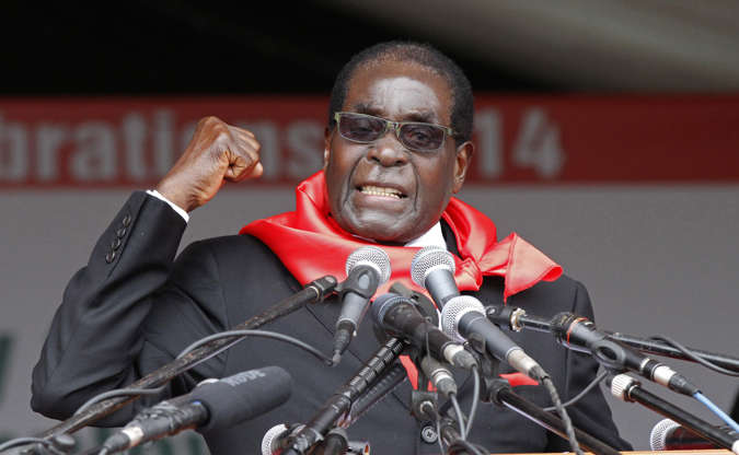 Slide 1 of 26: Robert Mugabe