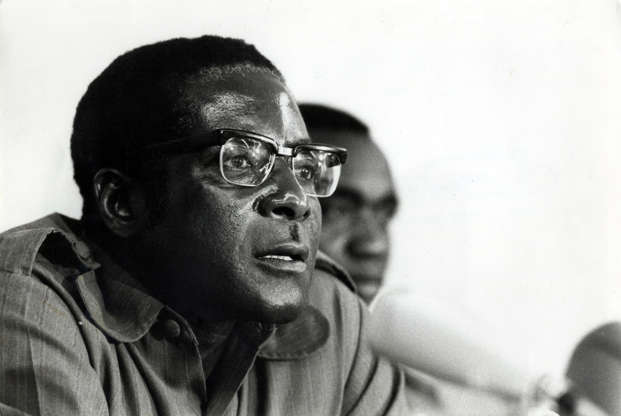 Slide 4 of 26: VARIOUS - 1979 Robert Mugabe, co-leader of the Patriotic Front and the Head of the Mozambican based Zanu Guerilla movement